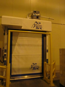An Eiger door with a dehumidifier on top installed at Grocontinental in the UK