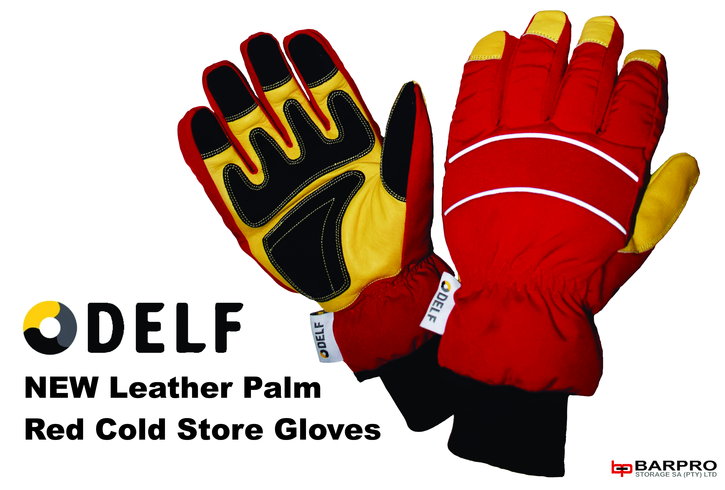 Delf Palm Red Cold Store Gloves