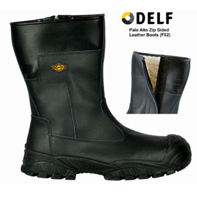 Delf Palo Alto Zip Sided Leather Boots (F02)
